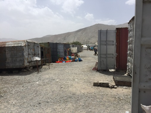 The container bazaar in downtown Murgab